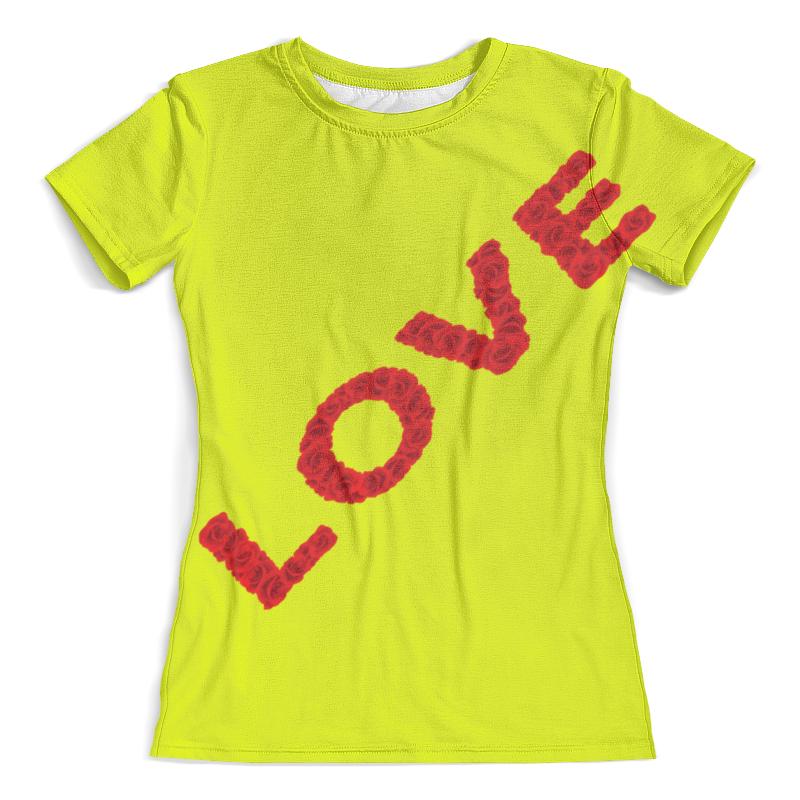 Футболка с полной запечаткой (женская) Printio Надпись-love футболка с полной запечаткой женская printio army of love