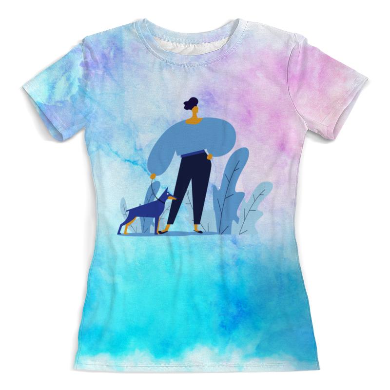 Футболка с полной запечаткой (женская) Printio Прогулка с собакой футболка с полной запечаткой женская printio battlefield v