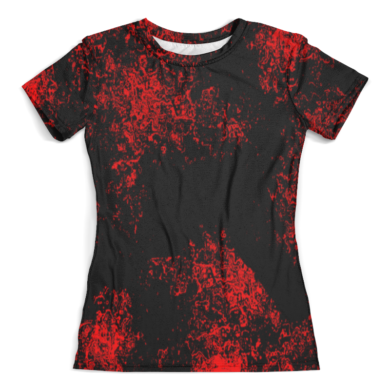 Футболка с полной запечаткой (женская) Printio Красная краска футболка 501 красная