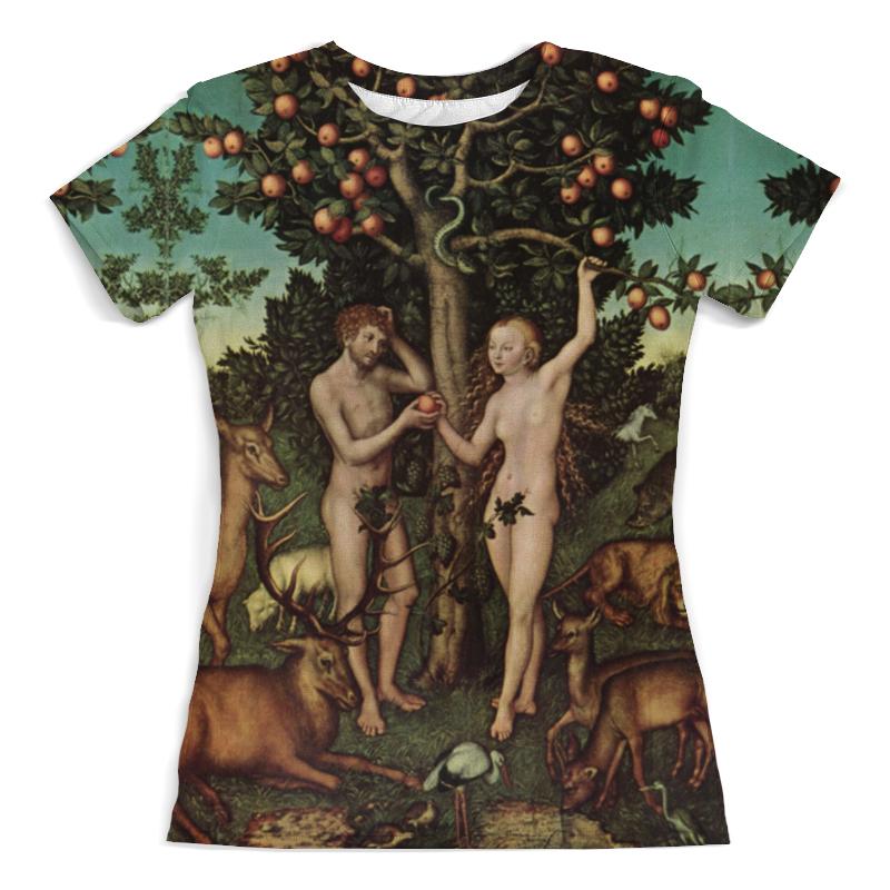 Футболка с полной запечаткой (женская) Printio Адам и ева (лукас кранах старший) футболка print bar ева