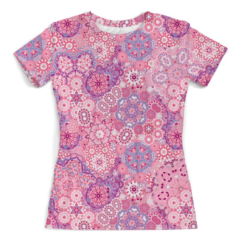 Футболка с полной запечаткой (женская) Printio Розовый узор футболка с полной запечаткой женская printio розовый узор