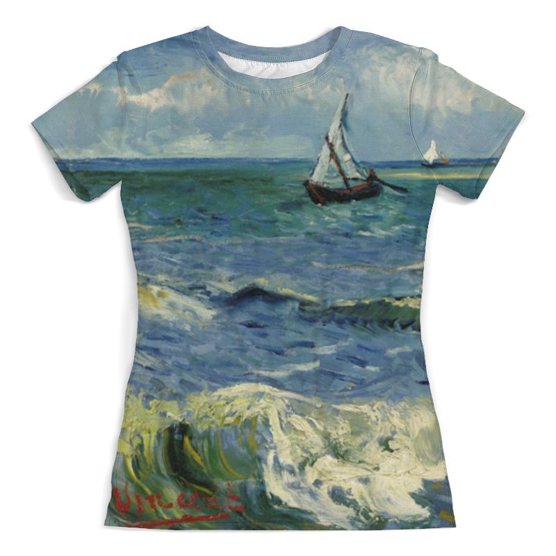 Футболка с полной запечаткой (женская) Printio Морской пейзаж у сент-мари-де-ла-мер (ван гог) футболка с полной запечаткой женская printio морской пейзаж у сент мари де ла мер ван гог