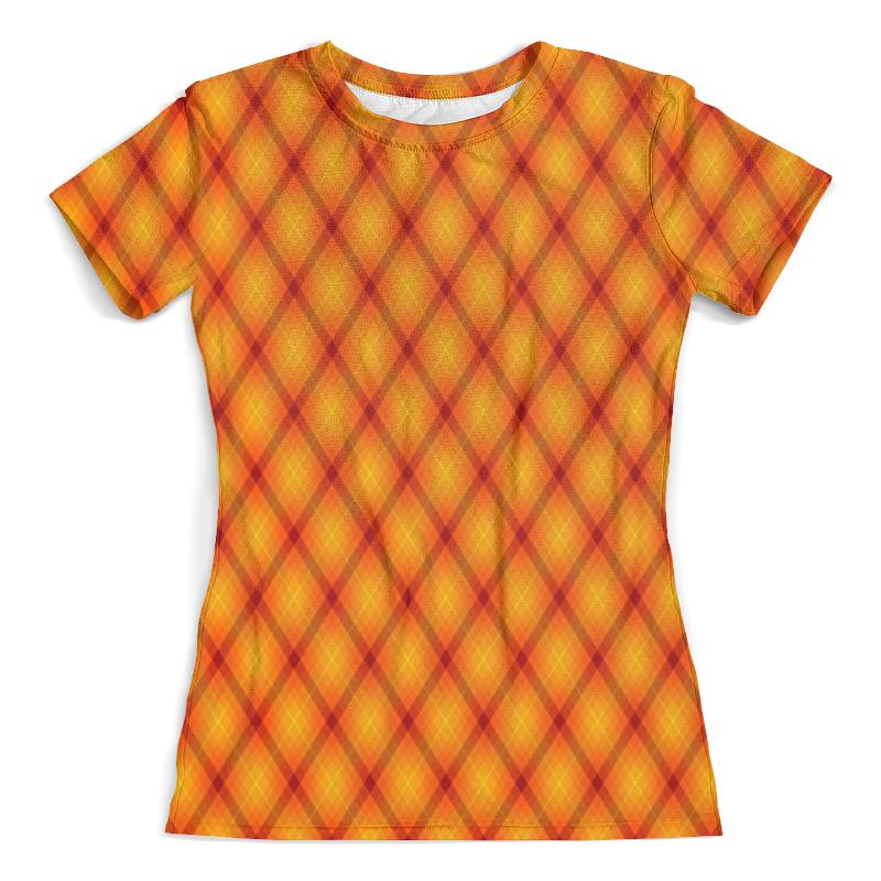 Футболка с полной запечаткой (женская) Printio Клетка оранжевая футболка с полной запечаткой женская printio клетка оранжевая