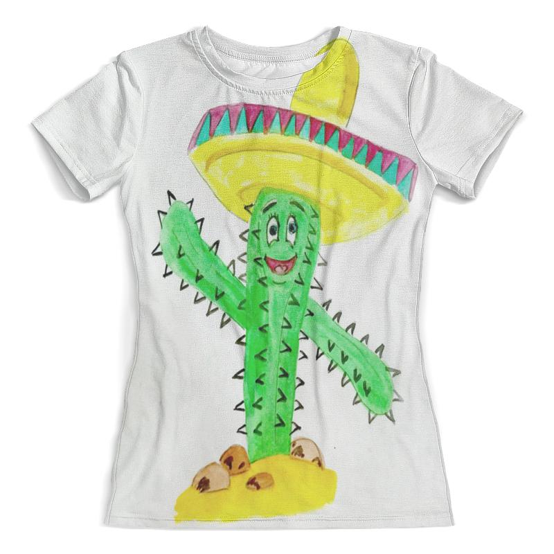 Футболка с полной запечаткой (женская) Printio Кактус футболка с принтом кактус 10 16 лет
