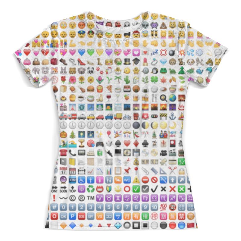Футболка с полной запечаткой (женская) Printio Emoji смайлики emoji embroidered jeans