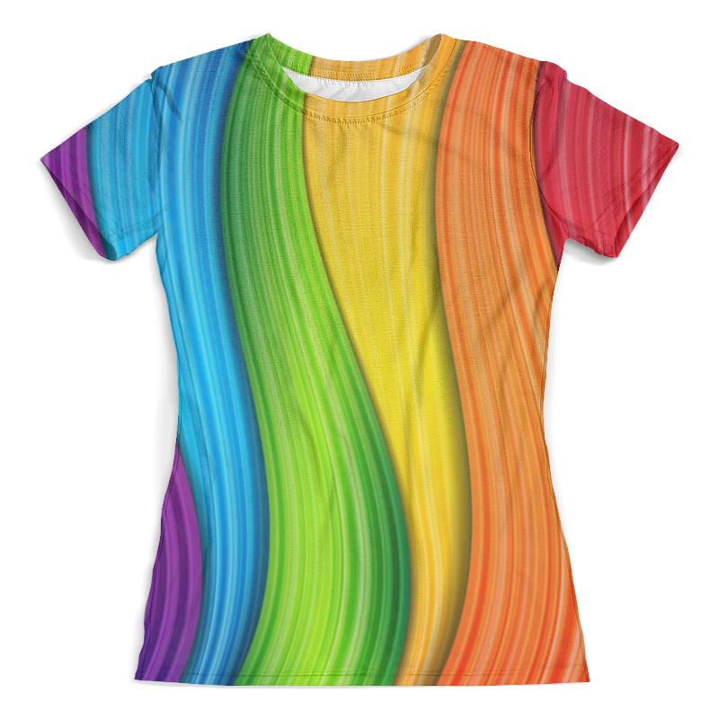 Футболка с полной запечаткой (женская) Printio Colorful rainbow футболка с полной запечаткой женская printio broken rainbow