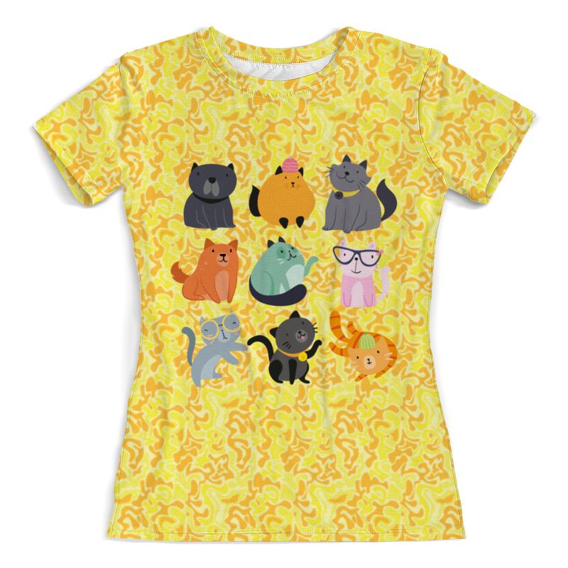 Фото - Футболка с полной запечаткой (женская) Printio Цветные кошки футболка с полной запечаткой женская printio чёрные кошки