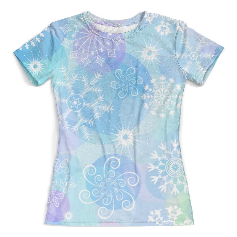 Футболка с полной запечаткой (женская) Printio Снежинка футболка с полной запечаткой женская printio фея в голубом 2