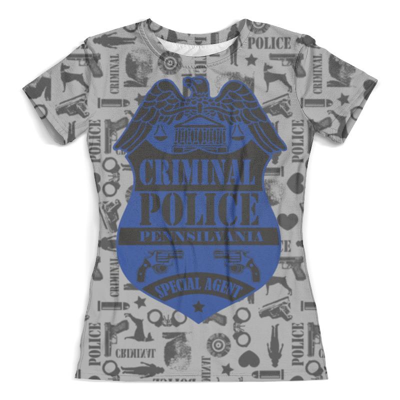 Футболка с полной запечаткой (женская) Printio Criminal police футболка мужская criminal damage 658911 04 25