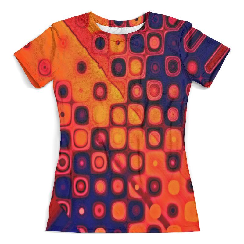 Футболка с полной запечаткой (женская) Printio Яркие кубики кубики мди