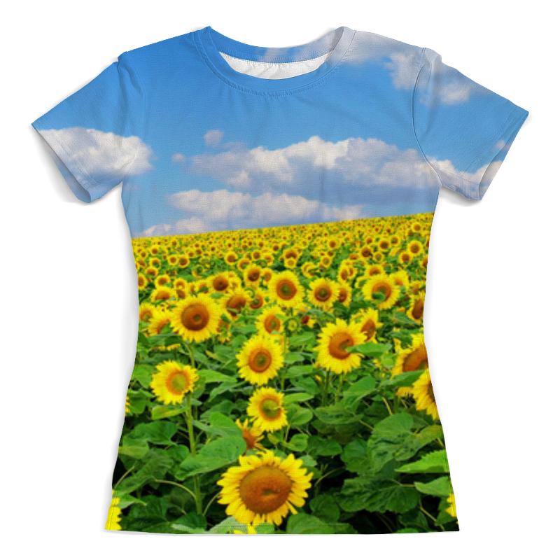Футболка с полной запечаткой (женская) Printio Sunflower t-shirt