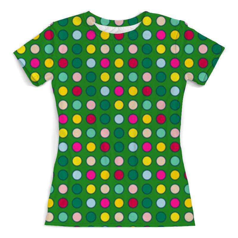 Футболка с полной запечаткой (женская) Printio Зеленый в горох футболка с полной запечаткой женская printio белый горох