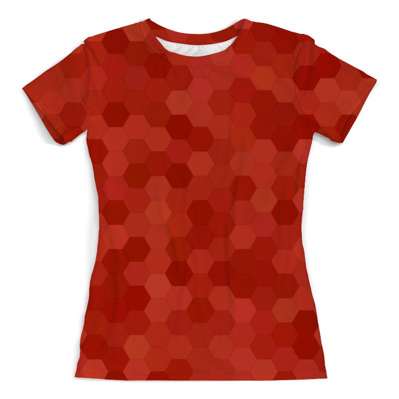 Футболка с полной запечаткой (женская) Printio Цветные соты футболка с полной запечаткой женская printio шары цветные