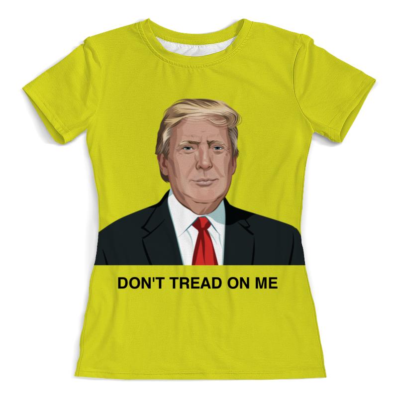 купить Футболка с полной запечаткой (женская) Printio Trump. dont tread on me. дональд трамп недорого