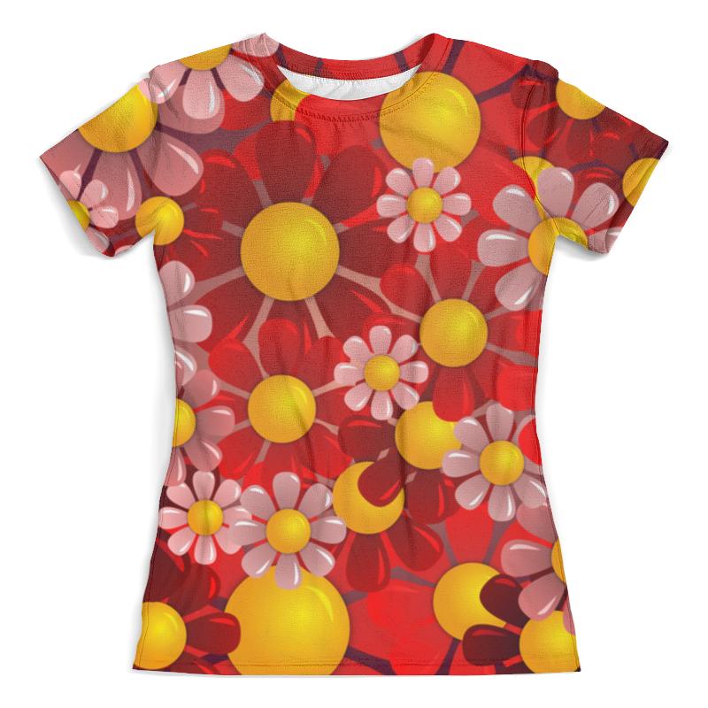 Футболка с полной запечаткой (женская) Printio Ромашки футболка с полной запечаткой мужская printio ромашки