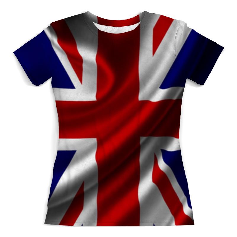 лучшая цена Футболка с полной запечаткой (женская) Printio Британский флаг