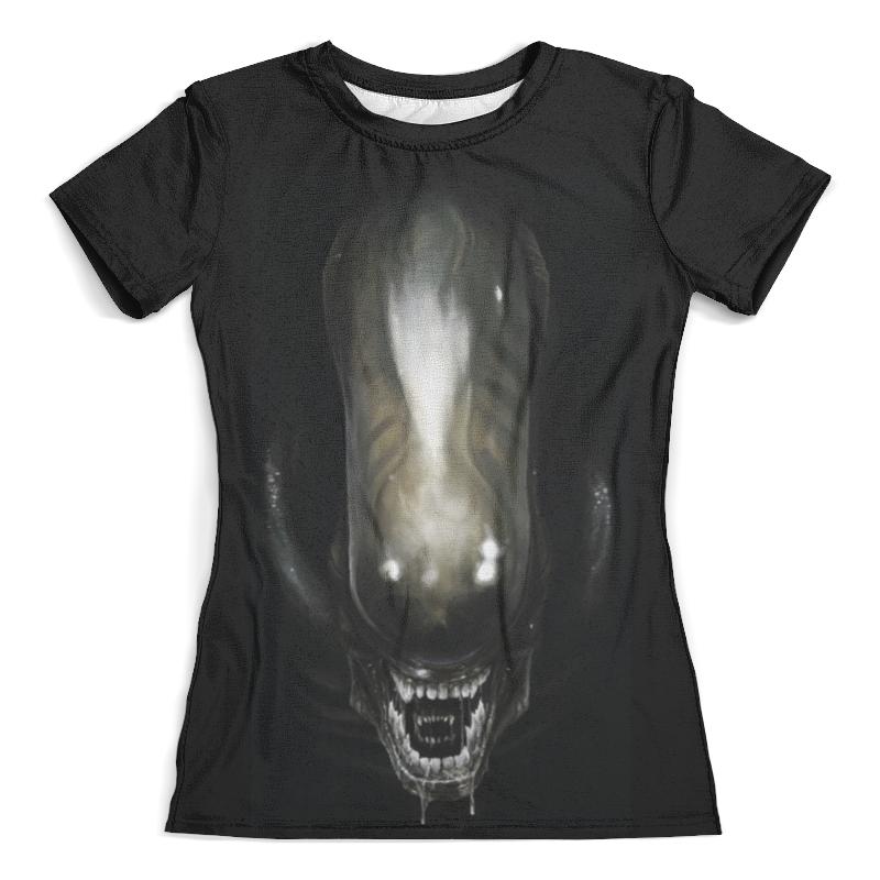 Футболка с полной запечаткой (женская) Printio Alien / чужой (женская) недорго, оригинальная цена