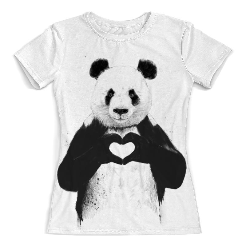 Футболка с полной запечаткой (женская) Printio Panda love 3d все цены