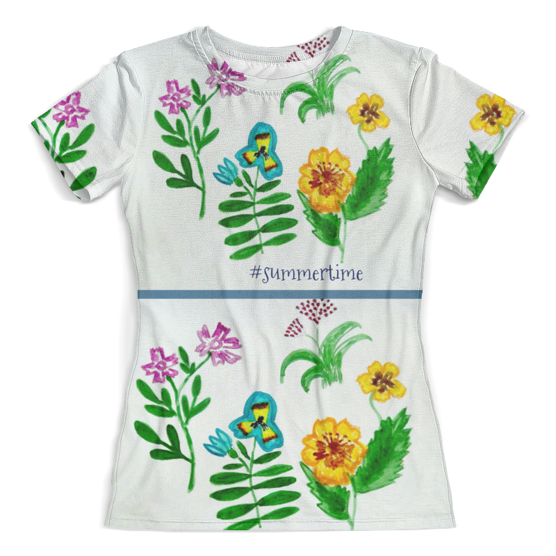Футболка с полной запечаткой (женская) Printio Футболка футболка полевые цветы блокнот кофемана нежные цветы