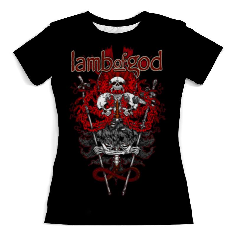 Футболка с полной запечаткой (женская) Printio Lamb of god цены онлайн