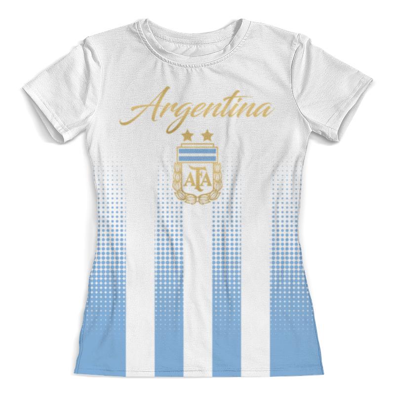 Футболка с полной запечаткой (женская) Printio Сборная аргентины цена и фото