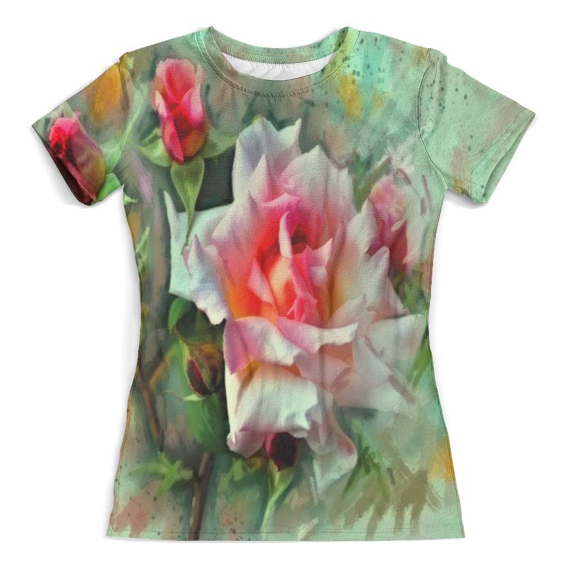 Футболка с полной запечаткой (женская) Printio Цветущие розы цена