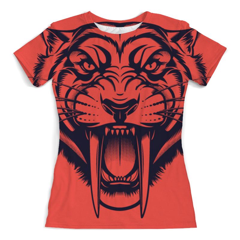 Printio Саблезубый тигр футболка с полной запечаткой мужская printio тигр 3d