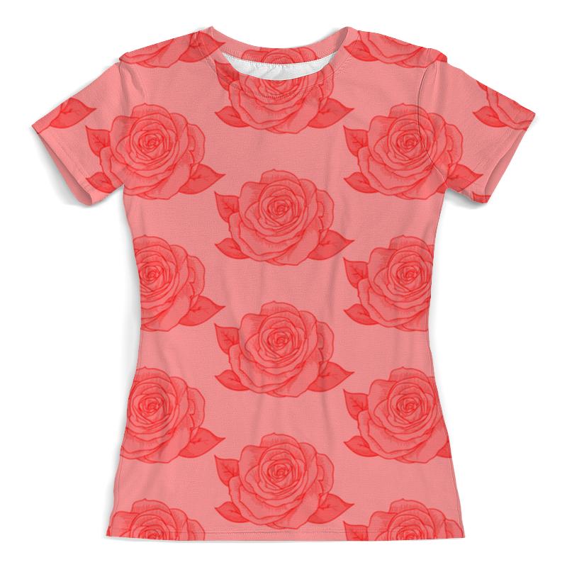 Футболка с полной запечаткой (женская) Printio Узор роз борцовка с полной запечаткой printio узор роз
