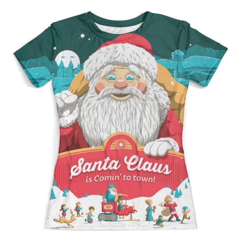 Футболка с полной запечаткой (женская) Printio Santa claus is comin' to town! hooded santa claus costume