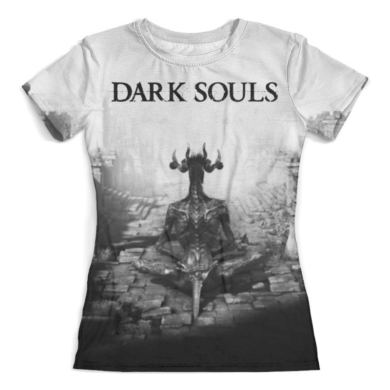 Футболка с полной запечаткой (женская) Printio Dark souls thought catalog souls