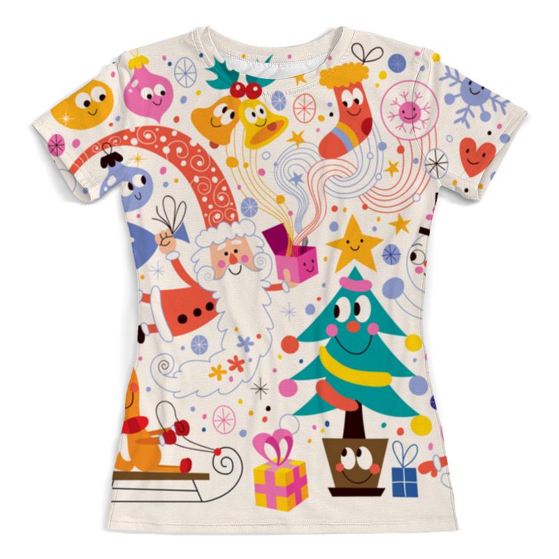 Футболка с полной запечаткой (женская) Printio Зимние праздники футболка с полной запечаткой для мальчиков printio зимние праздники