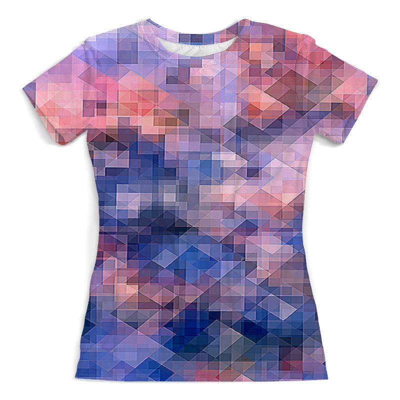 Футболка с полной запечаткой (женская) Printio Пиксель-арт. паттерн борцовка с полной запечаткой printio пиксель арт сине розовый паттерн