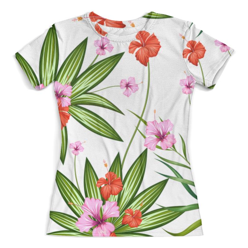Футболка с полной запечаткой (женская) Printio Тропические цветы