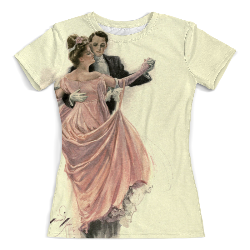 Printio День святого валентина футболка с полной запечаткой женская printio коридор убежища святого павла в сен реми