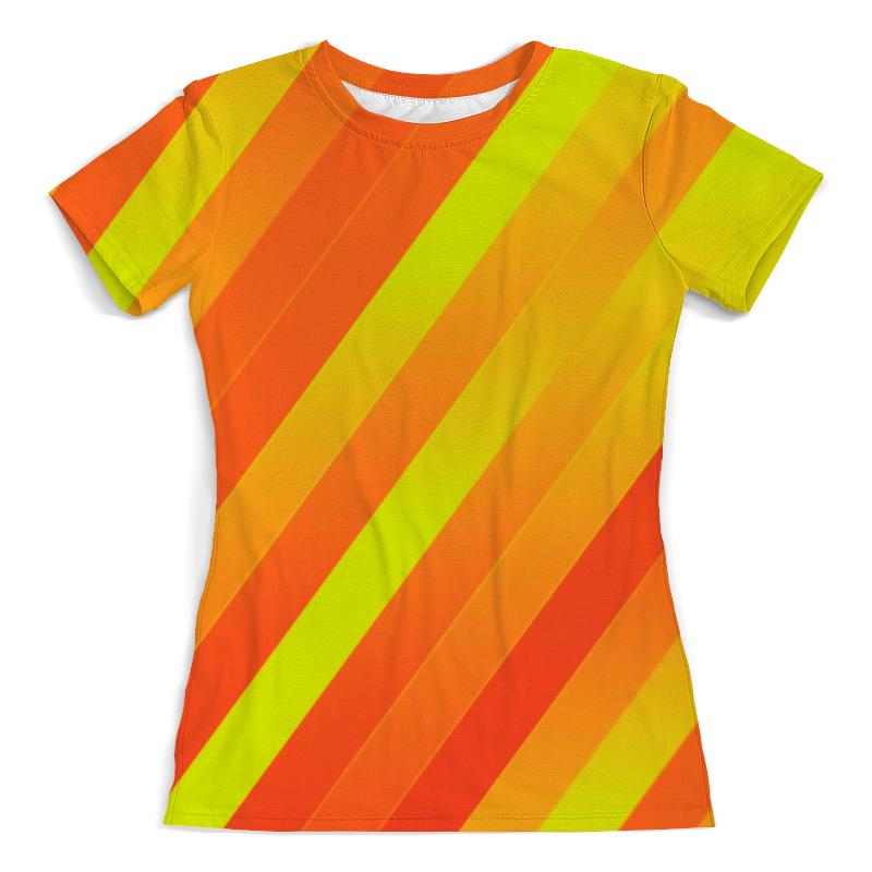 Printio Желто-оранжевые линии футболка с полной запечаткой мужская printio оранжевые линии