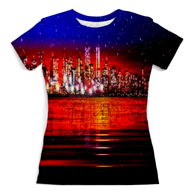 Футболка с полной запечаткой (женская) Printio Ночной город футболка с полной запечаткой женская printio ночной городок