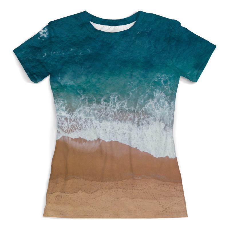 Printio пляж футболка с полной запечаткой для девочек printio пляж