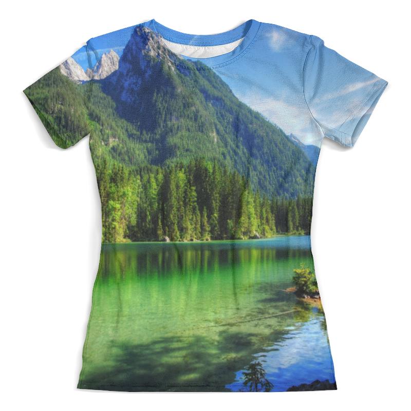 Футболка с полной запечаткой (женская) Printio Горное озеро футболка с полной запечаткой женская printio подземное озеро