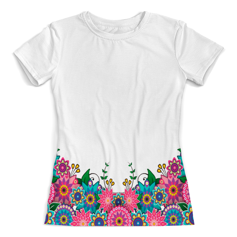 Футболка с полной запечаткой (женская) Printio Цветы 3d женская футболка other 2015 3d loose batwing harajuku tshirt t a50