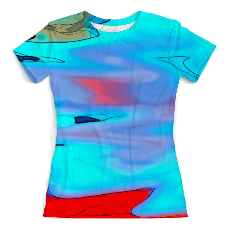 Футболка с полной запечаткой (женская) Printio Блики на воде футболка с полной запечаткой женская printio муза на пегасе одилон редон