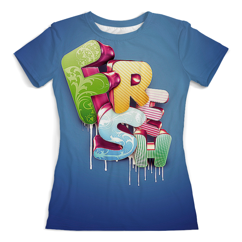 Футболка с полной запечаткой (женская) Printio Fresh футболка fresh fresh fr948emvem86