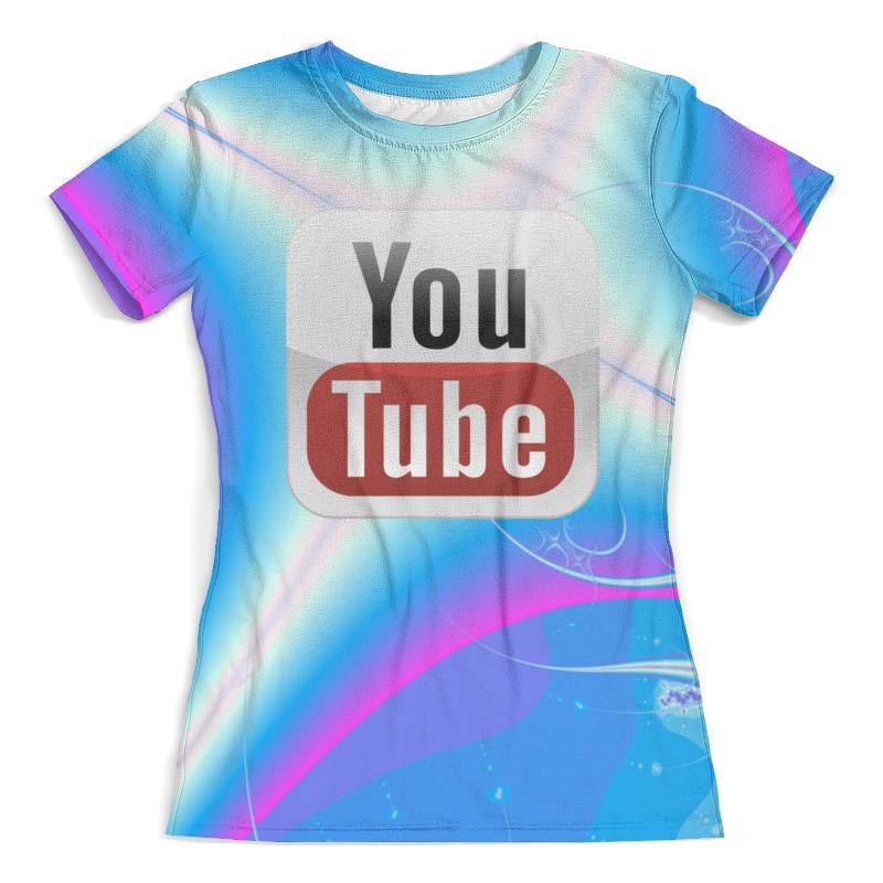 Футболка с полной запечаткой (женская) Printio Youtube printer youtube