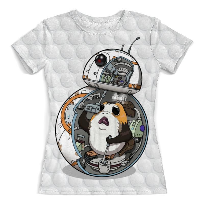 Футболка с полной запечаткой (женская) Printio Porg wars design футболка с полной запечаткой для девочек printio porg wars design