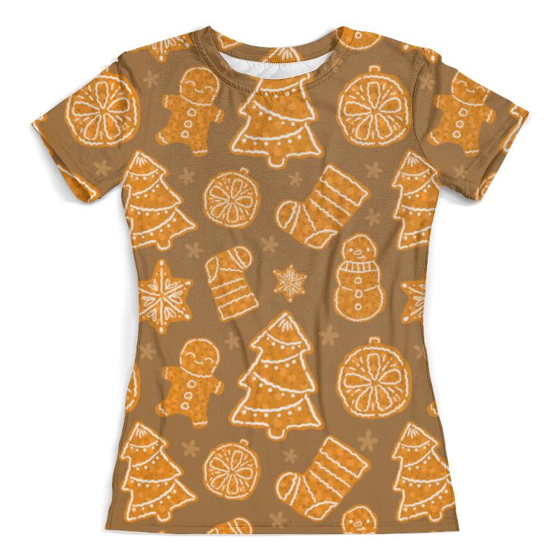 Футболка с полной запечаткой (женская) Printio Christmas dessert свитшот print bar christmas dessert