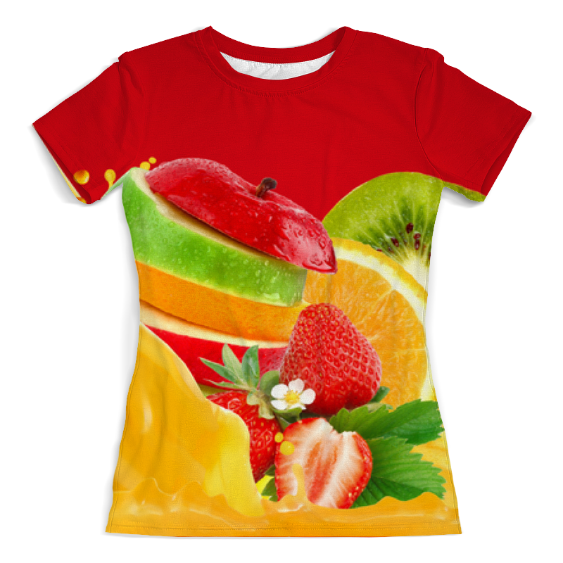 Футболка с полной запечаткой (женская) Printio Летний фреш футболка с полной запечаткой для девочек printio морковный фреш