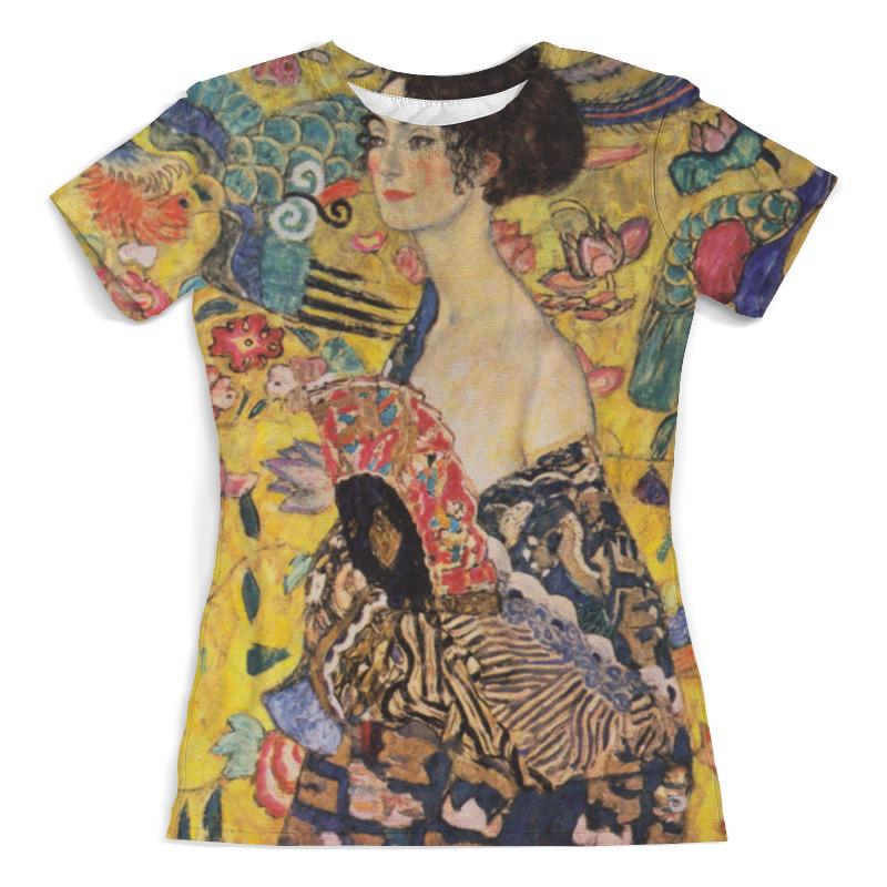 Футболка с полной запечаткой (женская) Printio Дама с веером (густав климт) женская сумка шопер с принтом коричневая коллекция elole design поцелуй густав климт нат кожа
