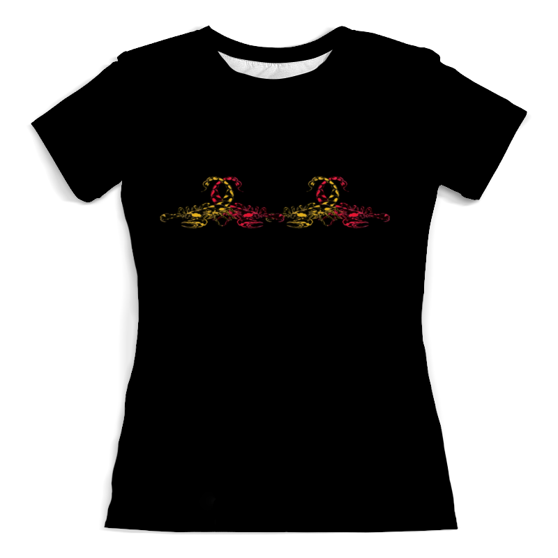 Фото - Футболка с полной запечаткой (женская) Printio Созвездие скорпион футболка с полной запечаткой женская printio созвездие рака