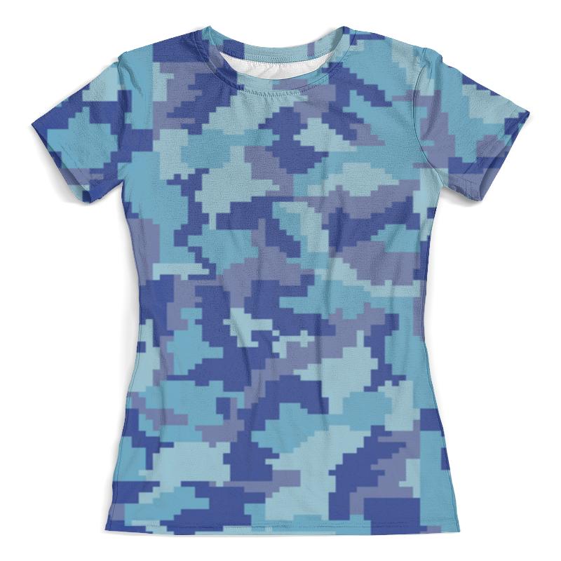 Футболка с полной запечаткой (женская) Printio Голубые пиксели свитшот унисекс с полной запечаткой printio голубые пиксели
