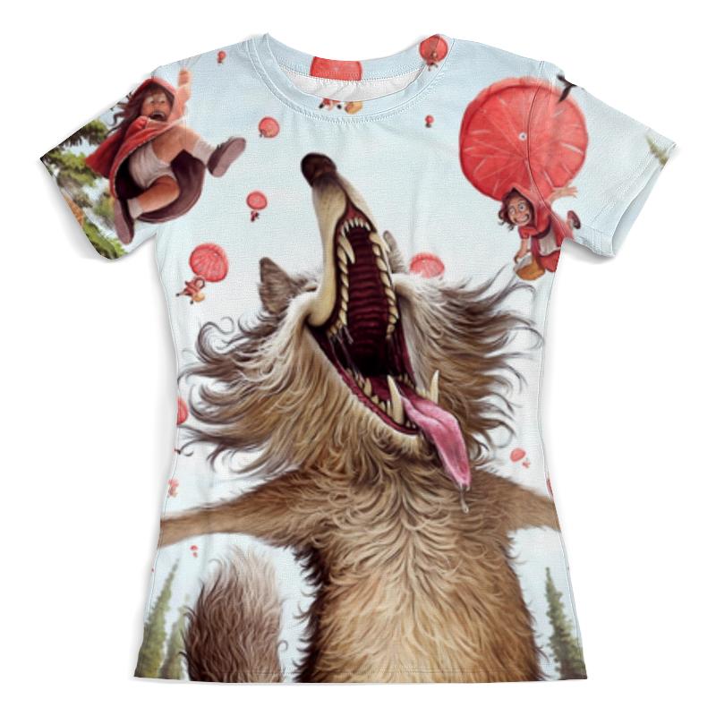 Футболка с полной запечаткой (женская) Printio Волк и красные шапочки