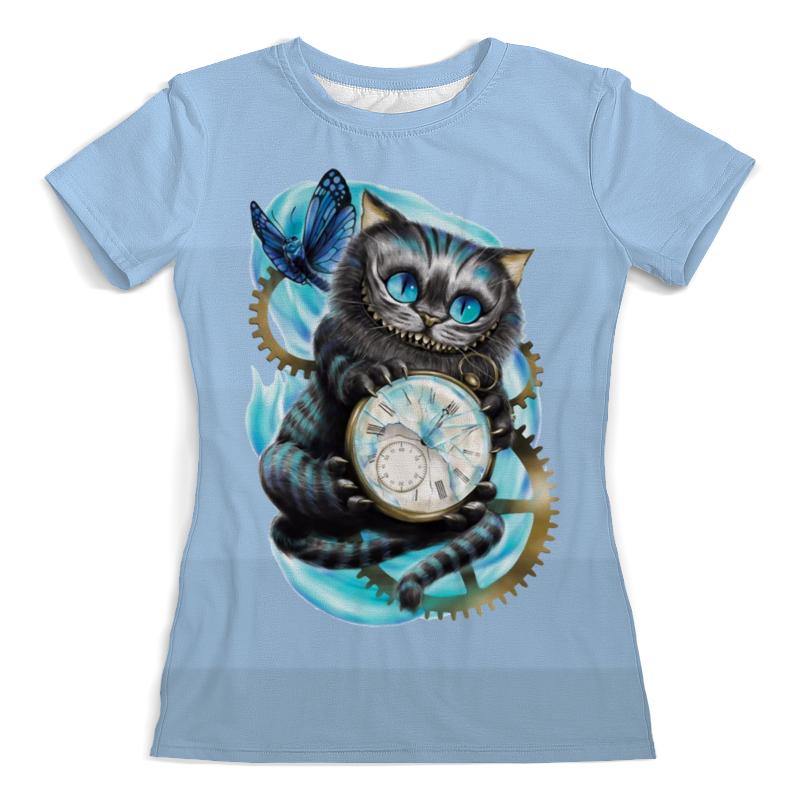 Футболка с полной запечаткой (женская) Printio Чеширский кот футболка с полной запечаткой женская printio кот граф